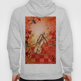 Violin with violin bow Hoody