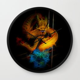 Dragon Fractal Dragon Wall Clock