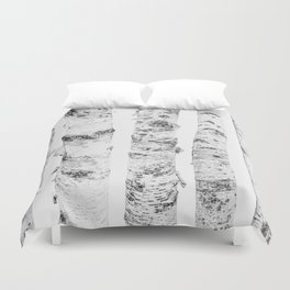 Birch Trees | Forest Landscape Photography Minimalism Duvet Cover