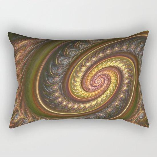 Spirals in a spiral, fractal abstract Rectangular Pillow