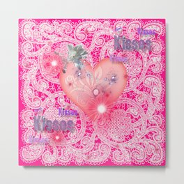 Valentine Kisses Metal Print