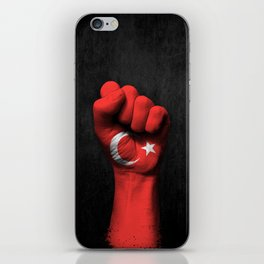 Turkish Flag on a Raised Clenched Fist iPhone Skin