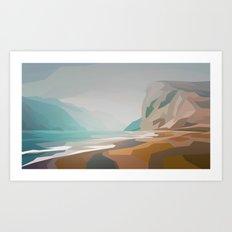 Cliffs - misty Art Print