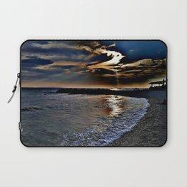 Sunset on the beach in Croatia Laptop Sleeve