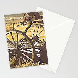 Wagon Wheels of the Old West Stationery Cards