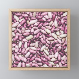Shiny white and purple cool beans Framed Mini Art Print