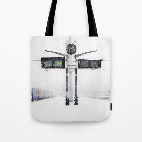 blizzard in Paris Tote Bag