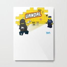 LEGO VANDAL Metal Print