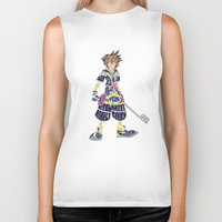 kingdom hearts Biker Tanks featuring Kingdom Hearts: Sora by NeleVdM