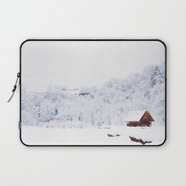 Cabin in the Snow (Color) Laptop Sleeve