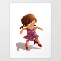 Little Girl in High Heels Art Print