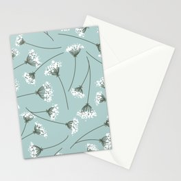 Queen Anne's Lace Floral Pattern Stationery Cards