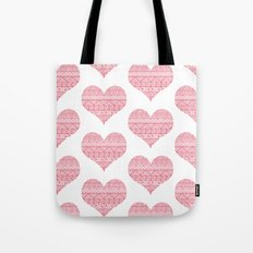Patterned Hearts Pattern Tote Bag