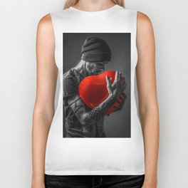 Hold my heart Biker Tank