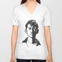 alex turner V-neck T-shirts featuring alex turner [6] by roanne Q