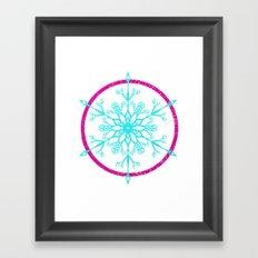 Dream-catching a Snowflake Framed Art Print