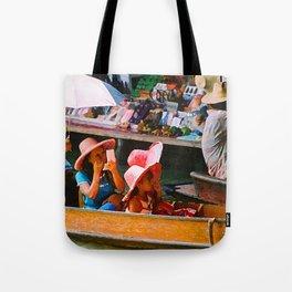 Thailand Floating Market Tote Bag
