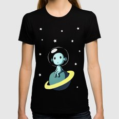 Space Alien Womens Fitted Tee LARGE Black