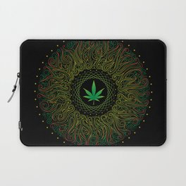 Magic plant. Marijuana leaf. mandala Laptop Sleeve