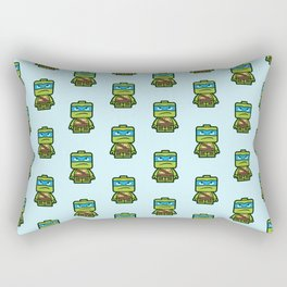 Chibi Leonardo Ninja Turtle Rectangular Pillow