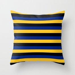 Barbados flag stripes Throw Pillow