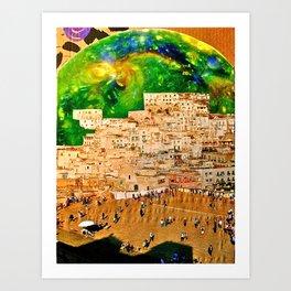 Cosmic City Art Print