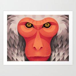 Japanese Monkey Art Print