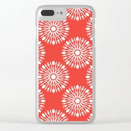 Kitchen cutlery red Clear iPhone Case