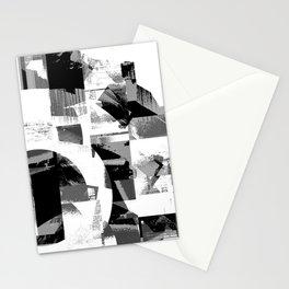 Circle Glitch Stationery Cards