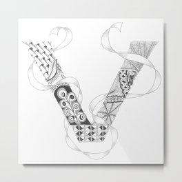 """Zenletter """"V"""" Metal Print"""