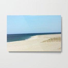 Minimalist Sand, Sea, and Sky Metal Print