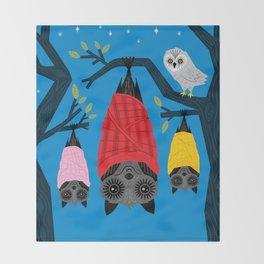 Bats in Blankets Throw Blanket