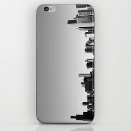 chicago skyline b+w iPhone Skin