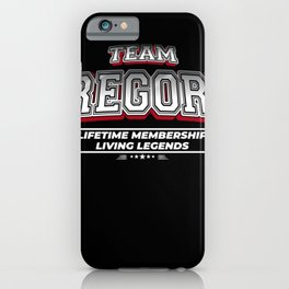 Team GREGORY Family Surname Last Name Member iPhone Case