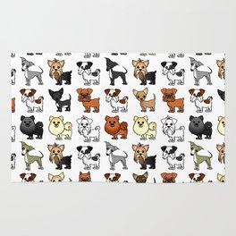 Cute Toy Dog Breed Pattern Rug