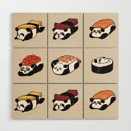 Sushi Panda Wood Wall Art