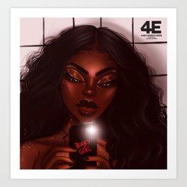 Bathroom $elfie Art Print