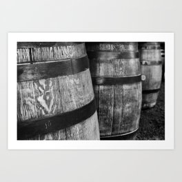 Wine Barrels in San Luis Obispo Art Print