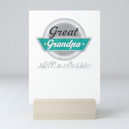 Mens Great Grandpa Gifts Funny Fathers Day Vintage T-shirt Mini Art Print