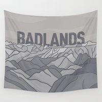 parks Wall Tapestries featuring Badlands by John Tibbott