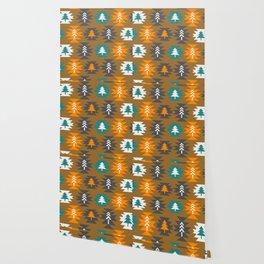 Christmas cabin decor Wallpaper