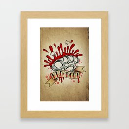 Knockout - Tattoo Design Framed Art Print