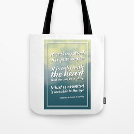 """Here is my secret"" Quote Tote Bag"