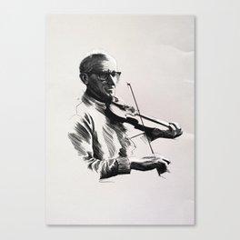 An Irish Fiddler Canvas Print