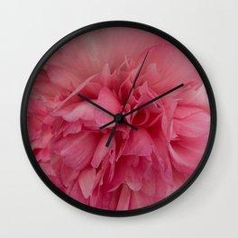 Rose Pink Peony by Teresa Thompson Wall Clock