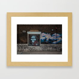 Spooky Street art Framed Art Print