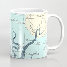 Map Octopus Coffee Mug