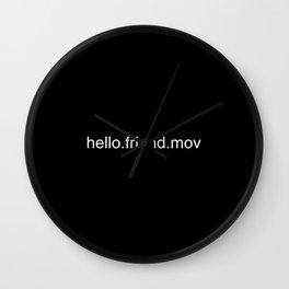 Hello.Friend Wall Clock