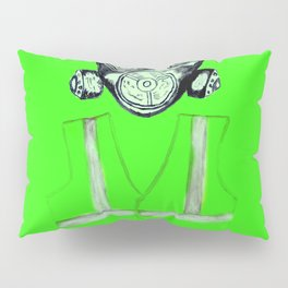 Gas Mask with flowers and Yellowvest Pillow Sham