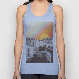 Rainbow Sky Above Paris Unisex Tank Top